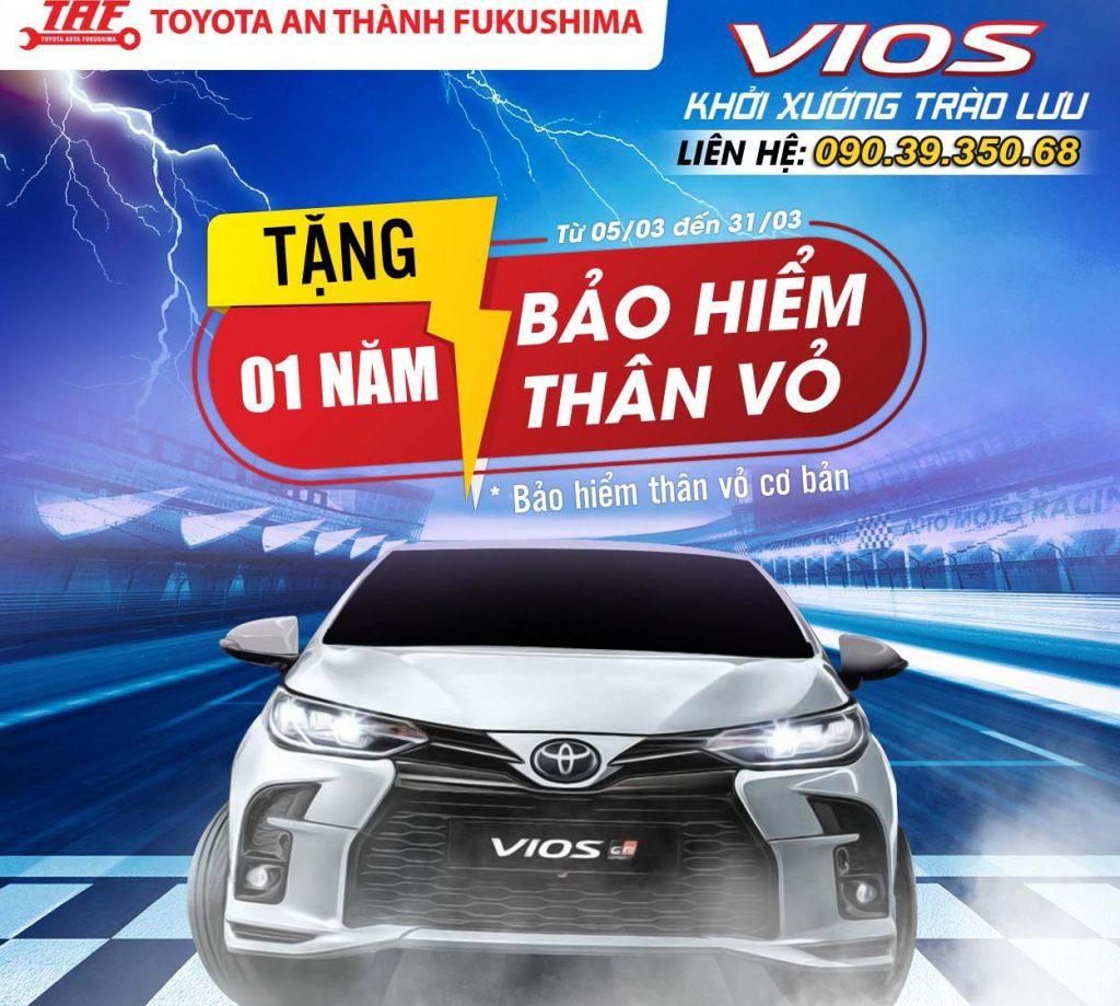 Toyota Fukushima khuyến mãi giá xe vios